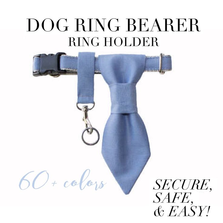 Is your dog walking down the aisle? Our ring holders are the perfect accessories for your dog ring bearer! They're safe to use, secure so you won't loose those precious rings, & most of all they are super easy to use! Shop our 60+ colors & patterns today.