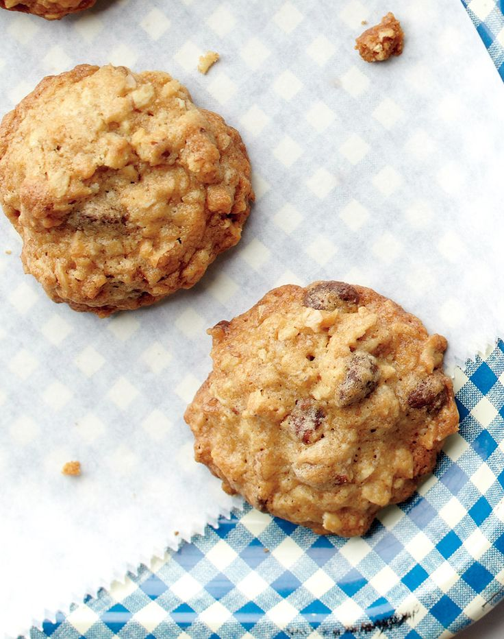 For those who can't choose between chocolate chip or oatmeal as their favorite cookie, here is the ultimate compromise. The cookie jar won't stay full for long.