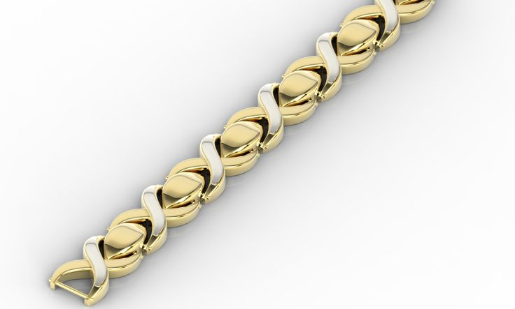 Bransoletka z białego i żółtego złota/ Bracelet made from yellow & white gold #bracelet #gift #gold #jewellery #withlove