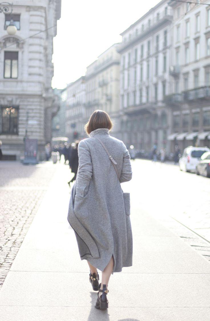2, bartabac, blog, blogger, bartabacmode, fashion, abrigo largo, grey, gris, falda midi, balenciaga