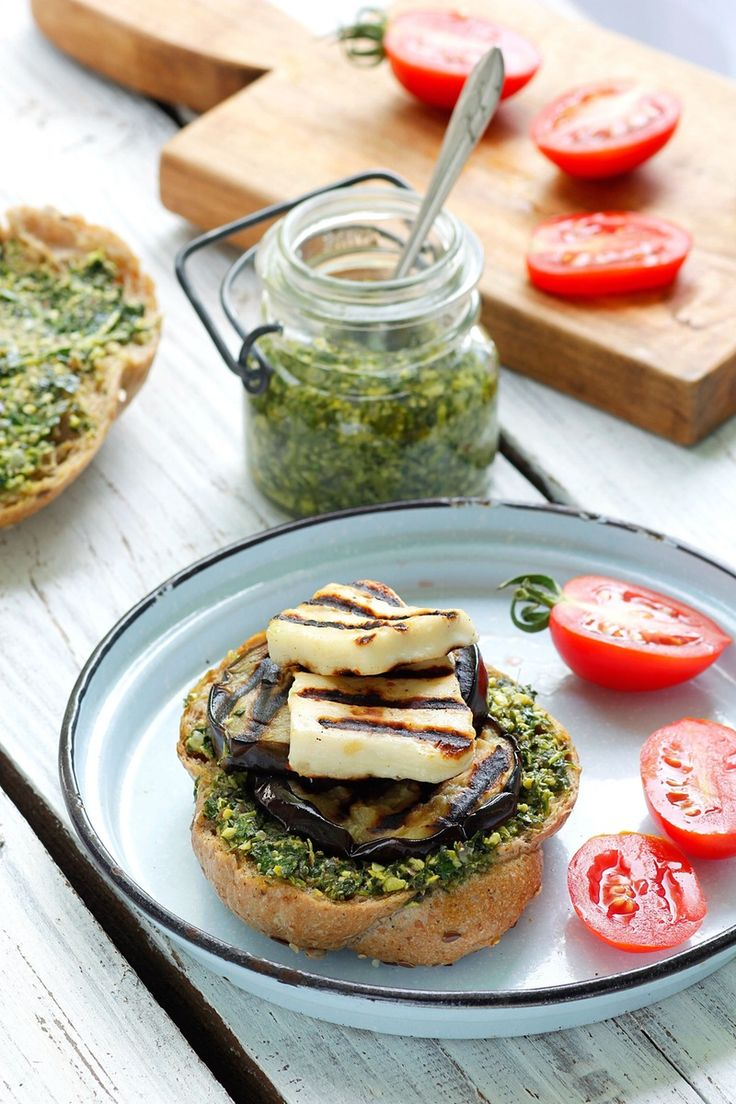 Recipe: Grilled Eggplant Burgers with Halloumi Cheese — Recipes from The Kitchn