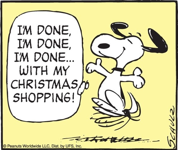 Done with Christmas Shopping, YAY!!!