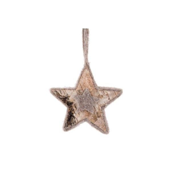 Original Christmas ornament in the shape of a star, beautifully finished with natural materials. This beautiful Christmas ornament looks great in every Christmas tree or Christmas wreath. This item is handmade.