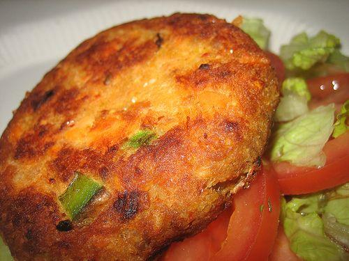 Galettes au saumon et fromage