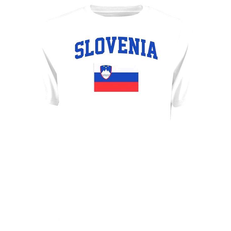 Slovenia Flag T-Shirt - White - $21.99