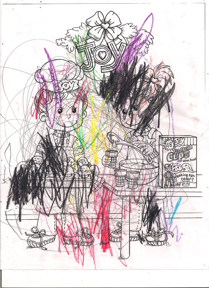Joy Coloring Sweepstakes entry from Grace age 2 from SD! #bringJOYhome #coloring #icecreamcones #holidays