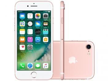 """iPhone 7 Apple 128GB Ouro Rosa 4G 4,7"""" Retina - Câm. 12MP + Selfie 7MP iOS 10 Proc. Chip A10"""