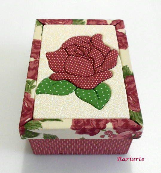 Caixa Rosa Delicada | Rariarte | 222B2B - Elo7