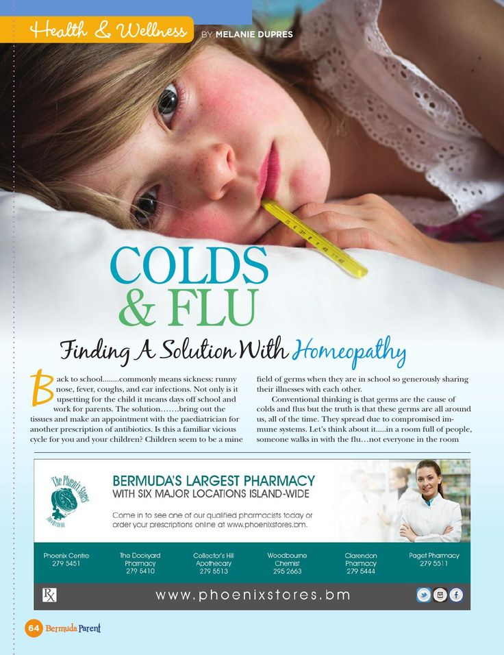 Colds and Flus - Homeopathic Solutions  #BermudaParent