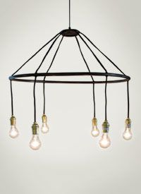 hexa chandelier...would look gorgeous with edison bulbs