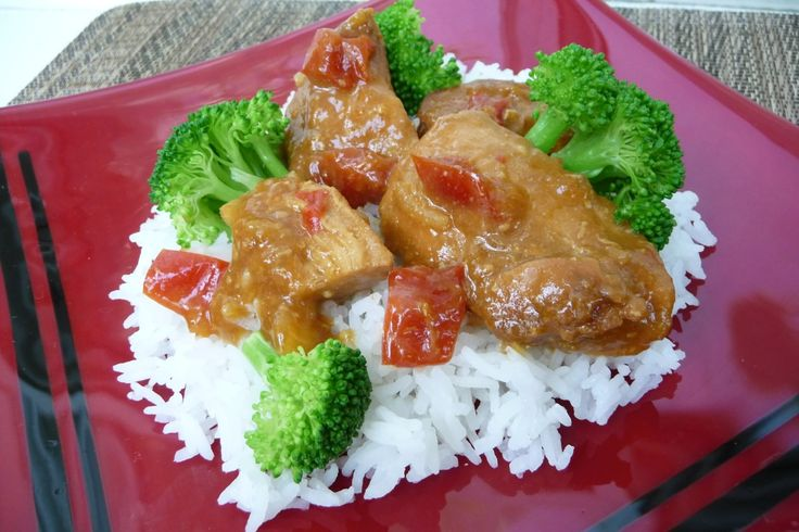 Sweet-n-Spicy Crockpot Chicken (GF, DF) This is freezer meal, throw into the crockpot and your done!