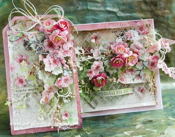 Сну открытка, цветок для открытки скрапбукинг