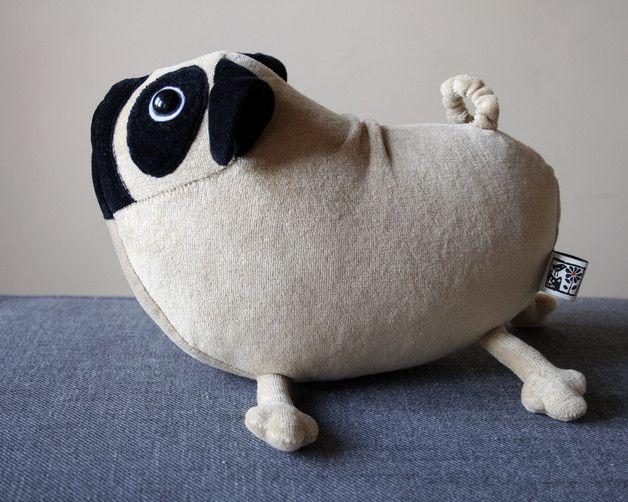 Stuffed Animals – Little Pug Dog, Cute Soft Puppy Toy – a unique product by andreavida on DaWanda