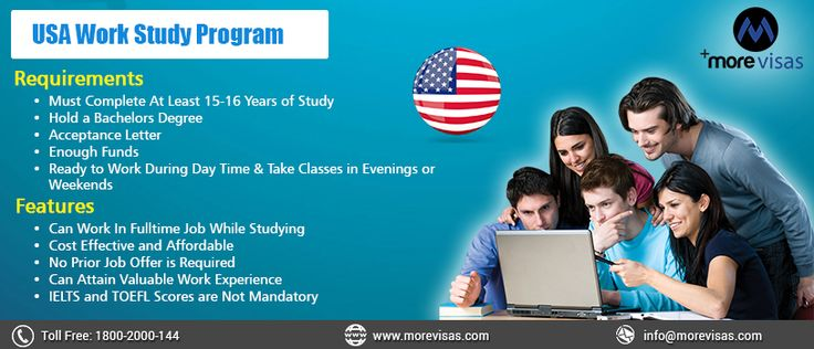 Want to work in ‪#‎USA‬ while studying? Then, USA ‪#‎WorkStudy‬ program would be the right option to gain work experience and meet your daily expends while studying in the USA.... Don't tarry! Avail this opportunity at.. http://www.blog.morevisas.com/quick-enquiry/