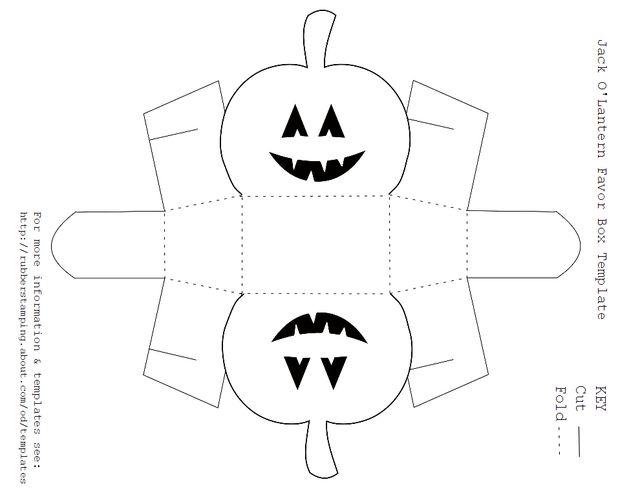 3D Paper House Print Out | Free Jack O'Lantern Favor Box Template