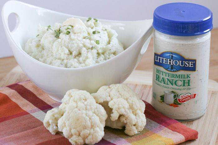 Hold the carbs please this Christmas and serve up some Ranch Mashed Cauliflower instead of mashed potatoes! #LivingLitehouse