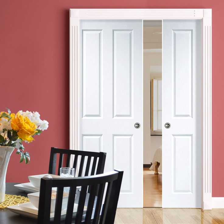Double Pocket Victorian 4 Panel Moulded Door   Prefinished