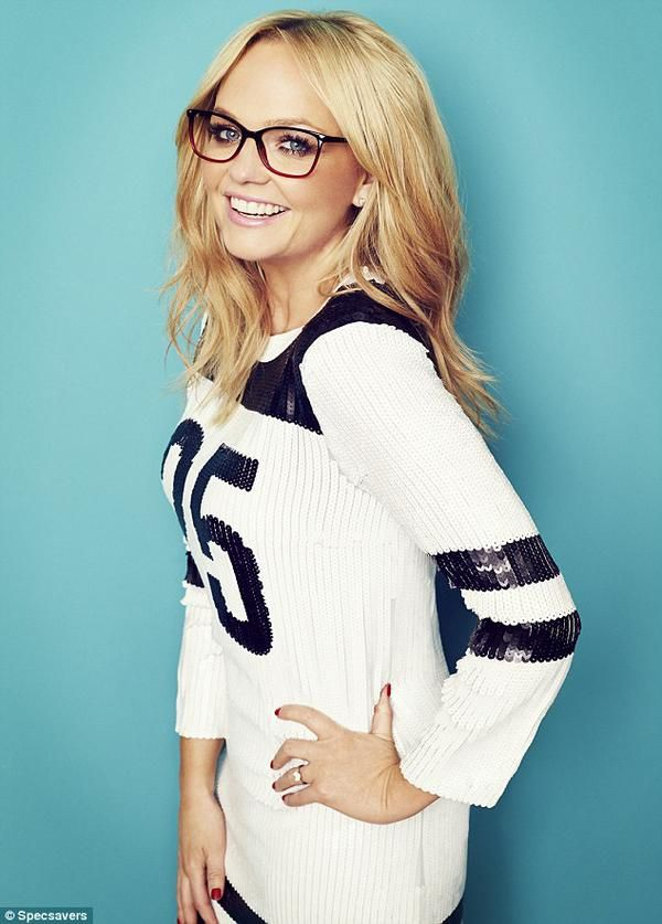 Emma Bunton's photoshoot for Specsavers magazine