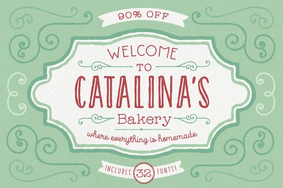 Check out CATALINA FONT FAMILY: 90% OFF by Kimmy Design on Creative Market