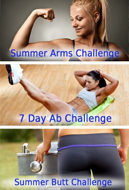 Top 3 Fitness Challenges ~ Arms, Abs, and Butt #Workouts in time to get ready for bikini season