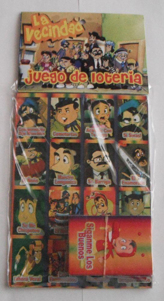 MEXICO MEXICAN MEDIUM SIZE EL CHAVO DEL OCHO LOTERIA SPANISH BINGO