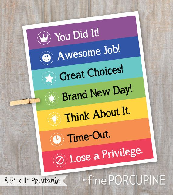 Behavior Chart DIY Behavior Chart Printable by TheFinePorcupine                                                                                                                                                     More