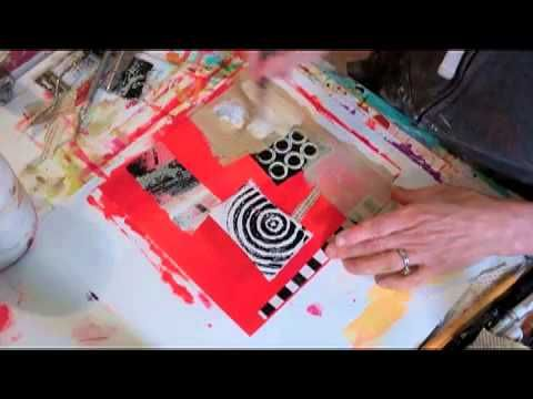 """This is the first in a series of video demonstrations on making 4""""x4"""" art, part of an ongoing project you can see here: http://janedavies-collagejourneys.blogspot.com/2013/02/4x4x400-project-working-in-series.html    For information on materials and sources, go to my Links page: http://janedaviesstudios.com/links"""