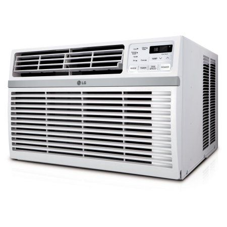 LG 18,000 BTU 230V Window-Mounted Air Conditioner with Remote Control, White