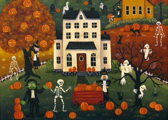 143 best Halloween 2017 from Ravens Bend Folk Art images on ...