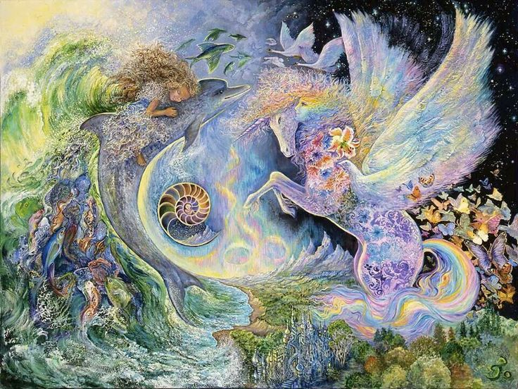 Magical Meeting by Josephine Wall. Fantasy art