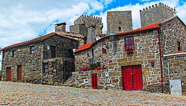 Montalegre in the northeren Portugal, typical stone houses near the #castle #carhireportugal