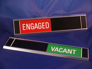 Sliding Signs - Engaged / Vacant - Entry Control System   eBay