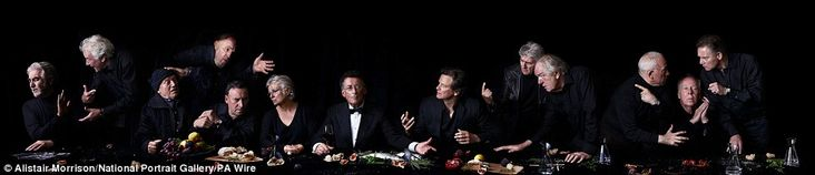 Modern masterpiece: (L-R) John Alderton, Sir Richard Eyre, Steven Berkoff, Tim Pigott-Smith, Sir Antony Sher, Julie Walters, Robert Powell, ... Acting The Last Supper