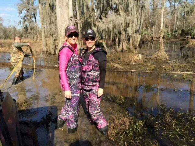 Muddy Girl Waders Need Hunting Guns Bows Camo