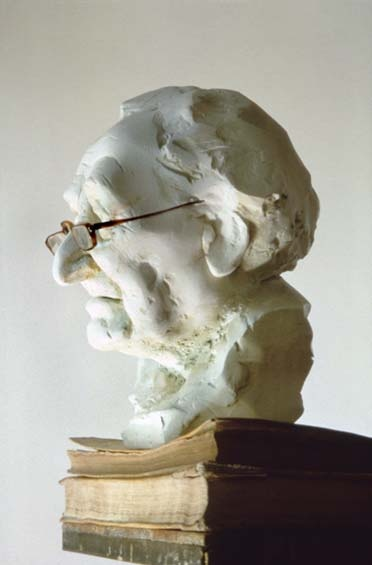 krzysztof m. bednarski, portret poety luigiego polacchi, 1985-1994, model gipsowy