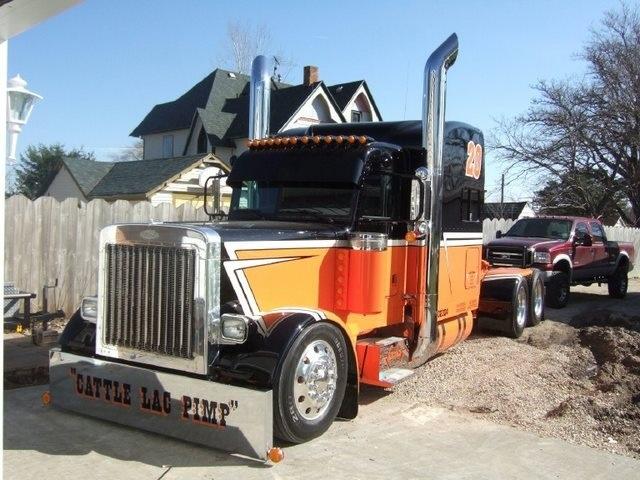 Trucks Custom Big Rig Orange : Black and orange peterbilt big rigs pinterest