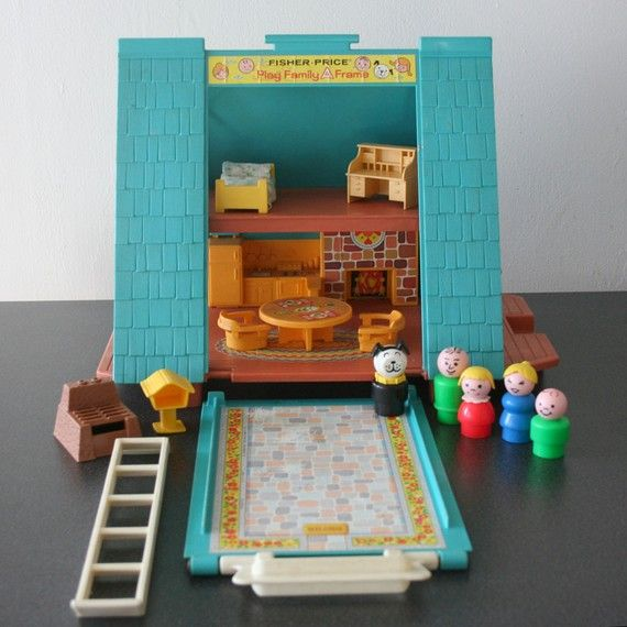 Vintage Fisher Price Little People A frame House by farmorshouse