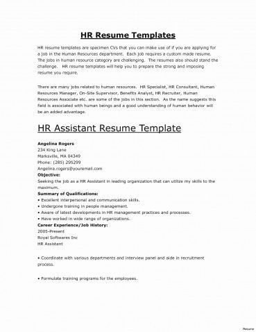 Skills Section Resume Examples New Od Specialist Sample Resume cv