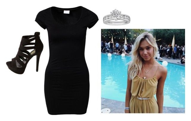 """""""ootd -Lacey"""" by second-starr-to-the-right ❤ liked on Polyvore featuring Charlotte Russe, VILA, Tiffany & Co., women's clothing, women, female, woman, misses and juniors"""