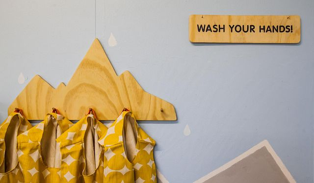 See-Saw-Do classroom makeover featuring hand made aprons made with Skinny laminx material