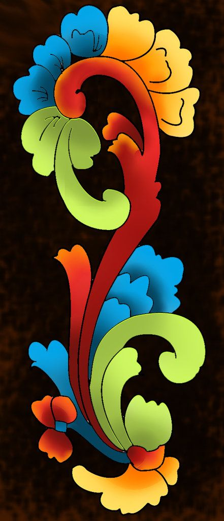 rosemaling | Rosemaling Trying a more modern way