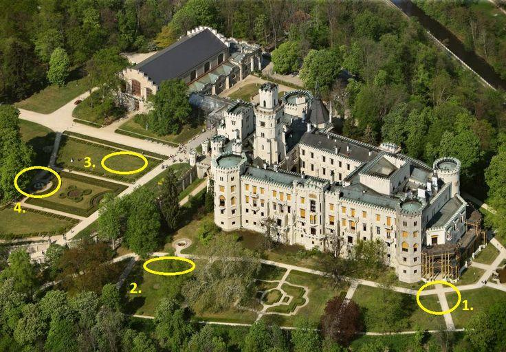 obradni mista v zamecke zahrade wedding ceremony spots in castle garden Hluboka nad Vltavou