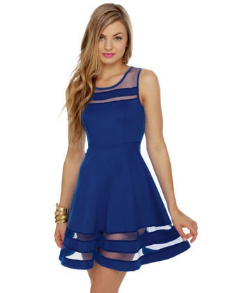 love me some royal bueRoyal Blue Dresses, Mesh Dresses, Every Girls, Royal Blue Outfit, Design Handbags, Royal Blue Clothing, Beads Dresses, The Dresses, Stripes Dresses