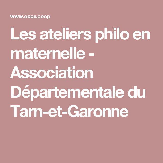 Les ateliers philo en maternelle - Association Départementale du Tarn-et-Garonne