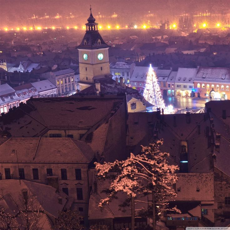 Brasov By Night #iPad #Air #Wallpaper