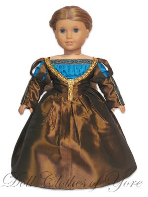 "This doll is wearing the ""Marguerite de Navarre"" dress, so called because the pattern and style is based on a portrait of the author. When we talk about inhabiting the pre-modern era, are we in some way trying to walk around - momentarily - in Marguerite's clothes? Is it a marker of Marguerite's fame and recognition to have a modern doll's outfit named after her? Or a fairly obvious metaphor for her status through the years as a doll-puppet, ""dressed up"" analytically by various critics?"