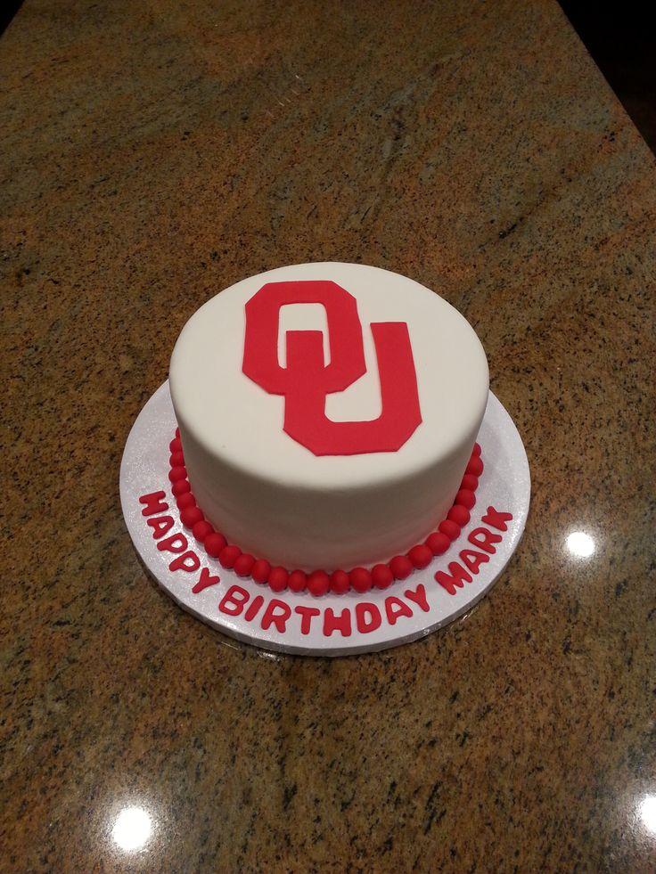 My husbands birthday cake, he is a big Oklahoma Sooner fan