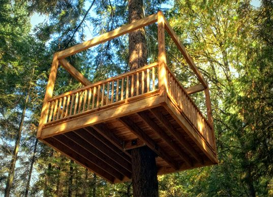 17 best ideas about kid tree houses on pinterest diy for Single tree treehouse ideas