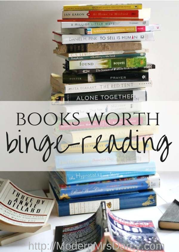 Are you so exhausted at night you just want to crash and watch a few episodes of your show? Try binge-reading instead, with this list of great books to get you started.
