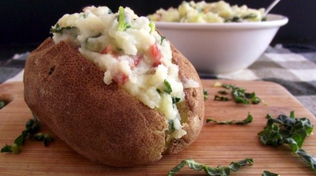Colcannon Stuffed Baked Potatoes: a traditional Irish dish made with ...